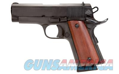 "Armscor Rock Island 1911, Compact, 45ACP, 3.5"" Barrel, Alloy Frame, Parkerized Finish, Wood Grips, FixedSights, 7Rd, 1 Magazine, Right Hand 51416  Guns > Pistols > Armscor Pistols > Rock Island"