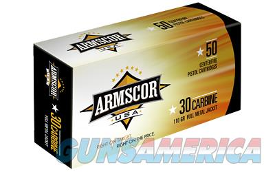 Armscor 30 Carbine  110 Grain  Full Metal Jacket  50 Round Box FAC30C-1N - $9 Flat Rate Shipping on ANY Size Order  Non-Guns > Ammunition