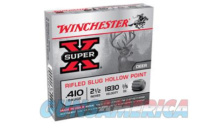 "Winchester Super-X, 410 Gauge, 2.5"", 0.20 oz., Slug, 5 Round Box X41RS5  Non-Guns > Ammunition"