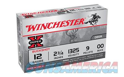 "Winchester Super-X, 12 Gauge, 2.75"", 00 Buck, Buckshot, 9 Pellets,5 Round Box XB1200  Non-Guns > Ammunition"