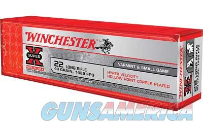 Winchester High Velocity, 22LR, 40 Grain, Plated Hollow Point, 100 Round Box XHV22LR  Non-Guns > Ammunition
