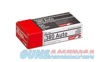 Aguila Ammunition Pistol, 380ACP, 95 Grain, Full Metal Jacket, 50 Round Box 1E802110  Non-Guns > Ammunition