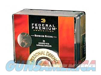Federal Personal Defense, Hydra-Shok, 9MM, 135 Grain, Jacketed Hollow Point, Low Recoil, 20 Round Box PD9HS5H  Non-Guns > Ammunition