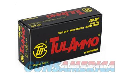 TulAmmo USA Steel Case. 380ACP, 91 Grain, Full Metal Jacket, 50 Round Box TA380910  Non-Guns > Ammunition