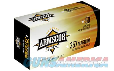 Armscor 357MAG, 158 Grain, Full Metal Jacket, 50 Round Box FAC357-6N  Non-Guns > Ammunition
