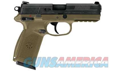 "FN America FNX-45, DA/SA, Semi-Automatic Pistol, Full Size, 45ACP, 4.5"" Barrel, Polymer Frame, Flat Dark Earth Finish, Fixed Sights, Manual Safety, 3-15Rd Magazines, Fired Case 66964  Guns > Pistols > FNH - Fabrique Nationale (FN) Pistols > FNX"