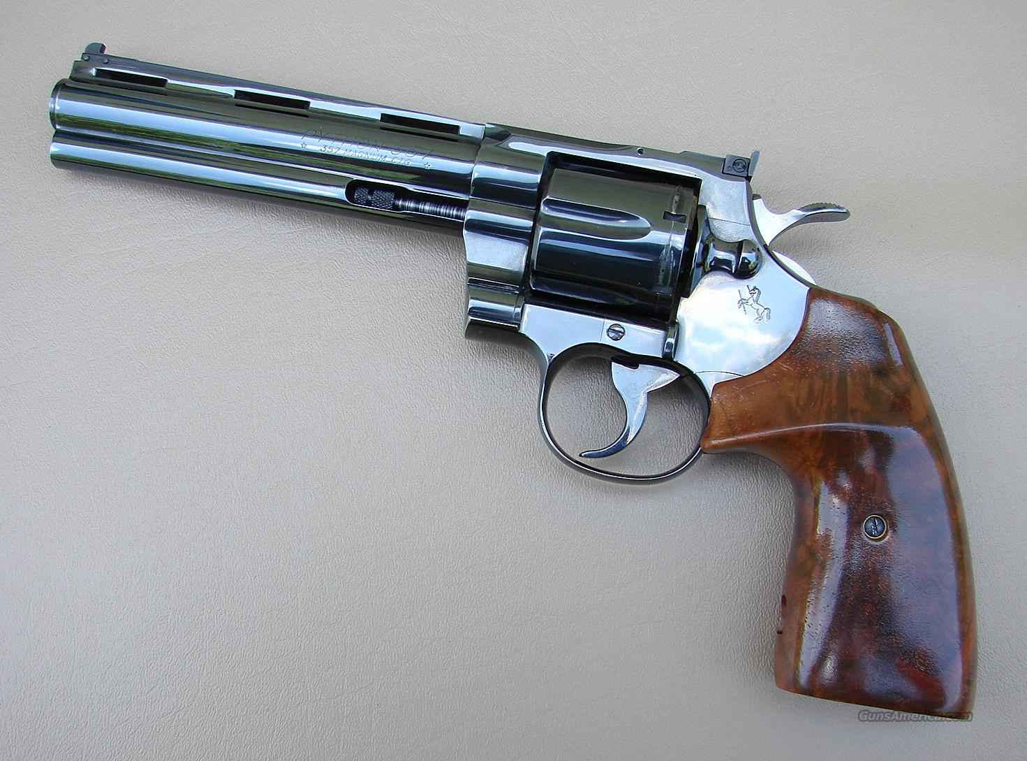Colt Python 357 Revolver with 6 Inch Barrel  Guns > Pistols > Colt Double Action Revolvers- Modern