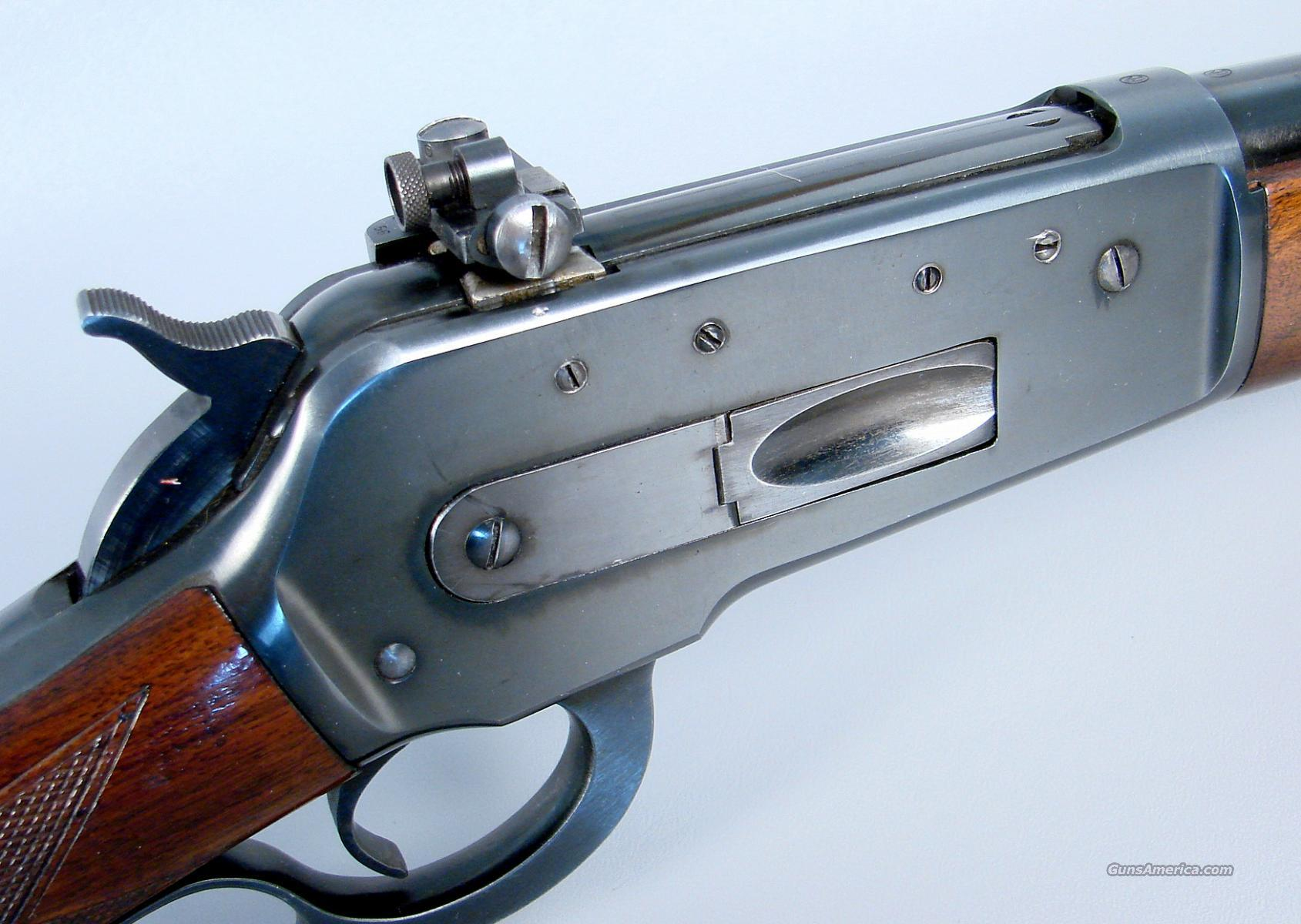 Winchester Model Deluxe 71 Rifle with Lyman Receiver Sight and Original Sling  Guns > Rifles > Winchester Rifles - Modern Lever > Other Lever > Pre-64