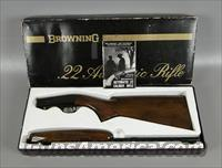 Browning Automatic 22 Rimfire Semi Auto Takedown Rifle in Original Box  Guns > Rifles > Browning Rifles > Semi Auto > Hunting