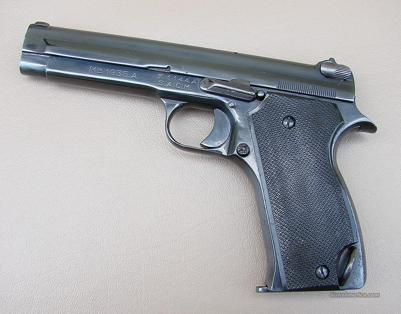 French Model 1935 A Military Officers Pistol Vietnam Capture  Guns > Pistols > Military Misc. Pistols Non-US