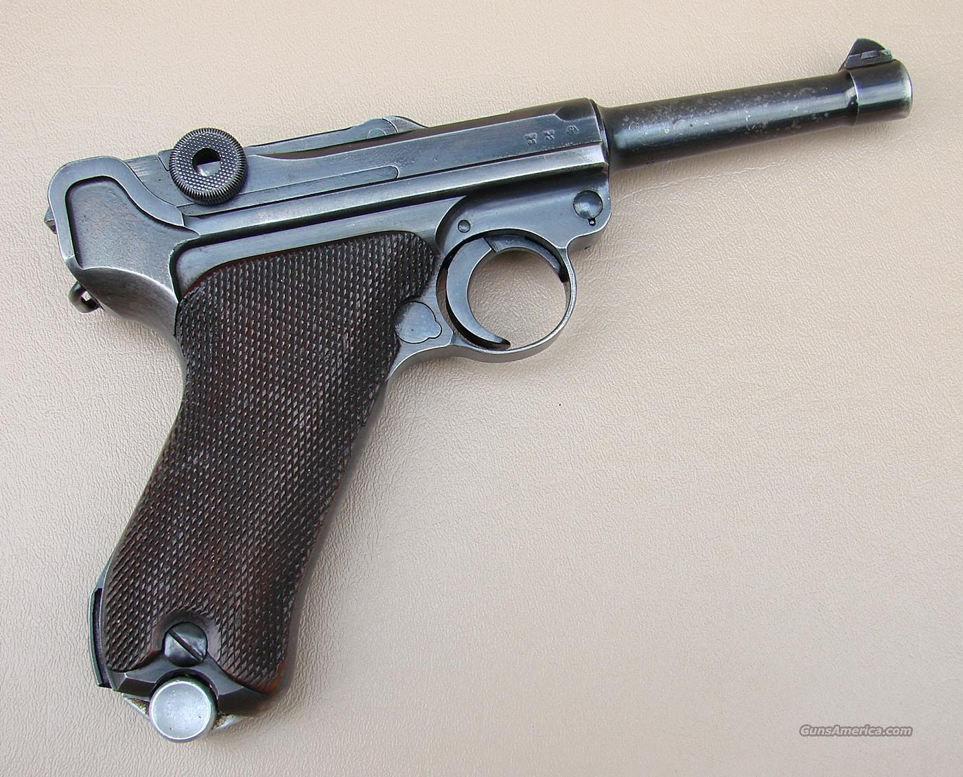 1938 German Army Luger Piston by Mauser S/42  Guns > Pistols > Luger Pistols