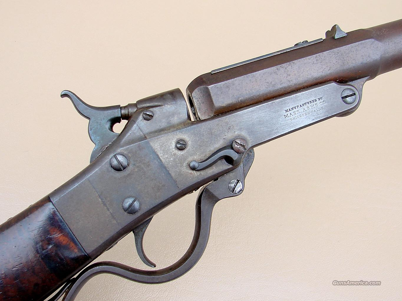 Maynard Model 1873 Rifle with Extra Fancy Walnut Stock in 35 Caliber.   Guns > Rifles > Antique (Pre-1899) Rifles - Ctg. Misc.