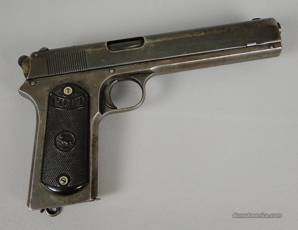 Colt Model 1902 Long Slide 38 Rimless Auto Pistol  Guns > Pistols > Colt Automatic Pistols (.25, .32, & .380 cal)
