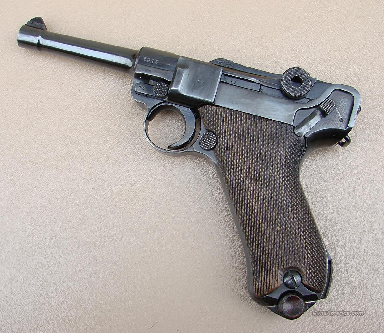 1942 WWII BYF Luger P 08 Pistol in 9 MM with All Matching Numbers  Guns > Pistols > Luger Pistols