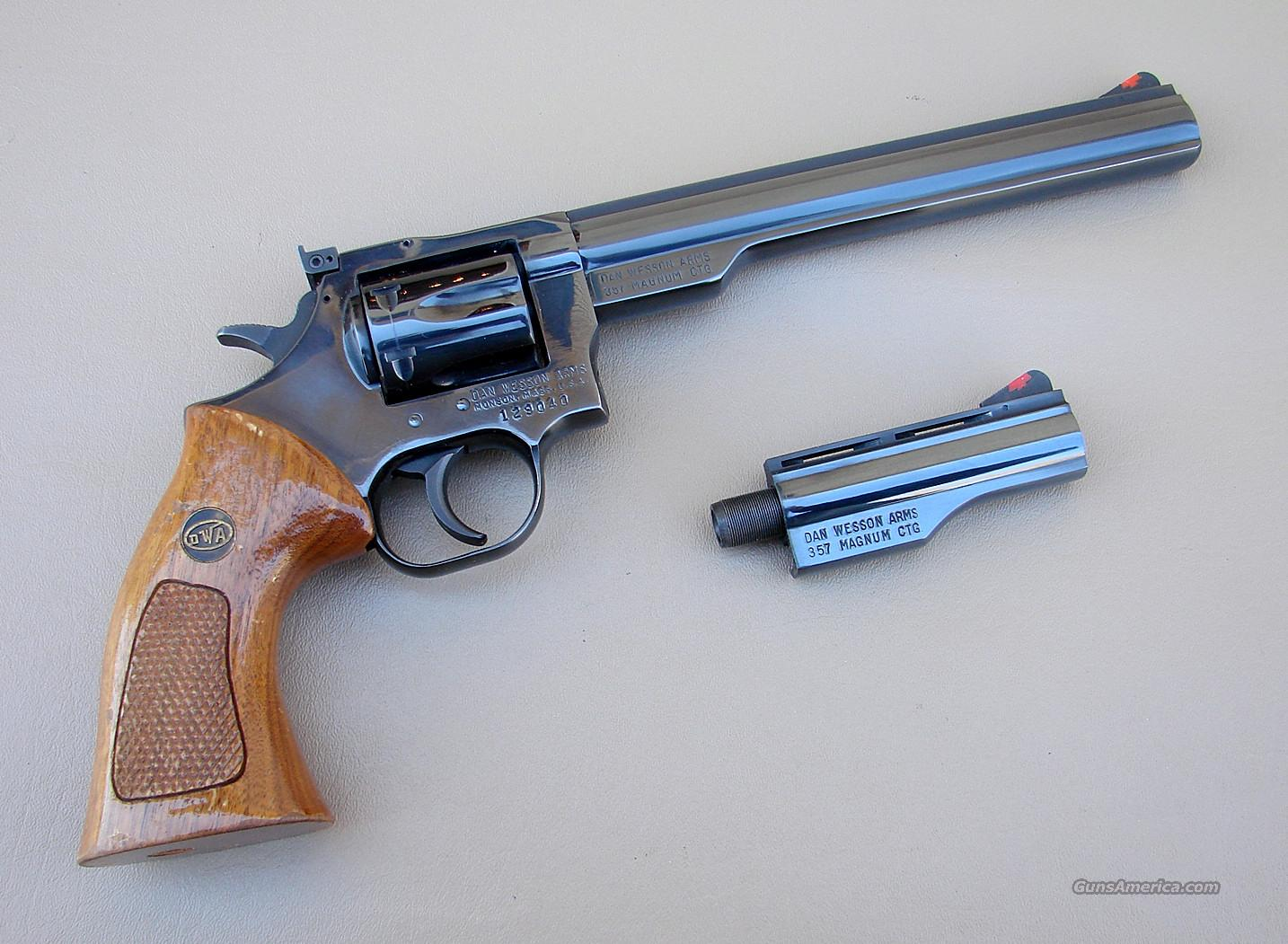 Dan Wesson 357 Revolver with 4 and 8 Inch Barrels  Guns > Pistols > Dan Wesson Pistols/Revolvers > Revolvers