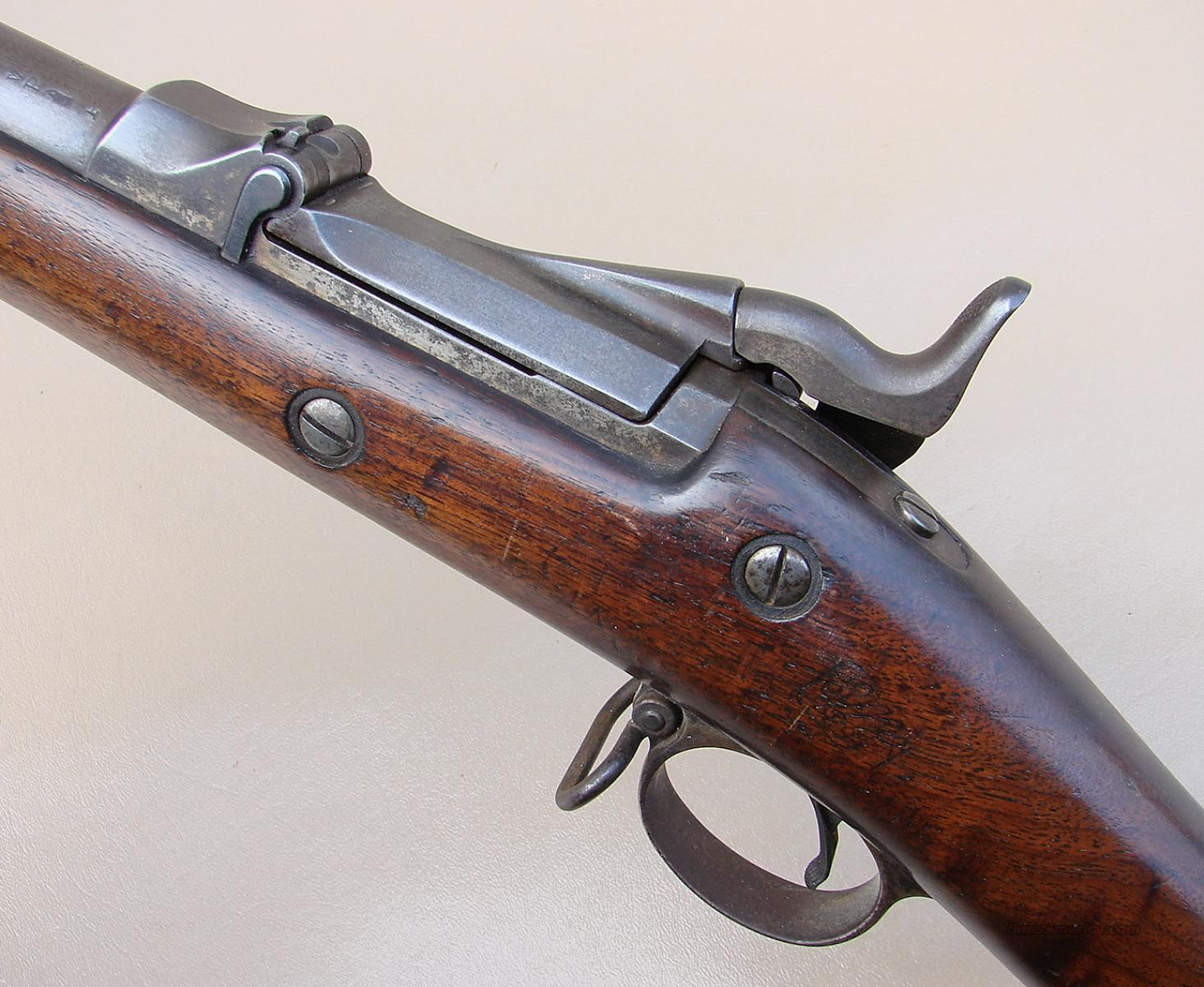 US Springfield Trapdoor 45-70 Model 1888 Rifle with Cleaning Rod Bayonet  Guns > Rifles > Military Misc. Rifles US > Pre-1900