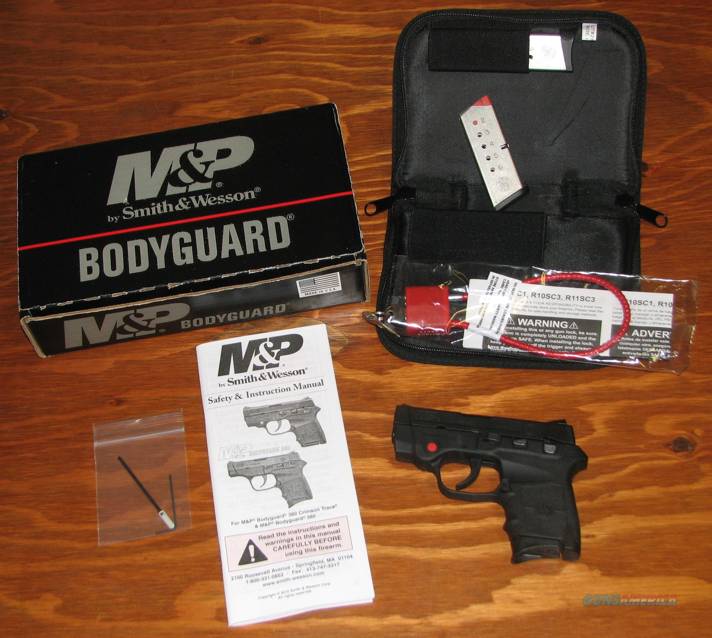 Smith & Wesson M & P Bodyguard Semi Auto Pistol with Crimson Trace Laser .380   Guns > Pistols > Smith & Wesson Pistols - Autos > Polymer Frame