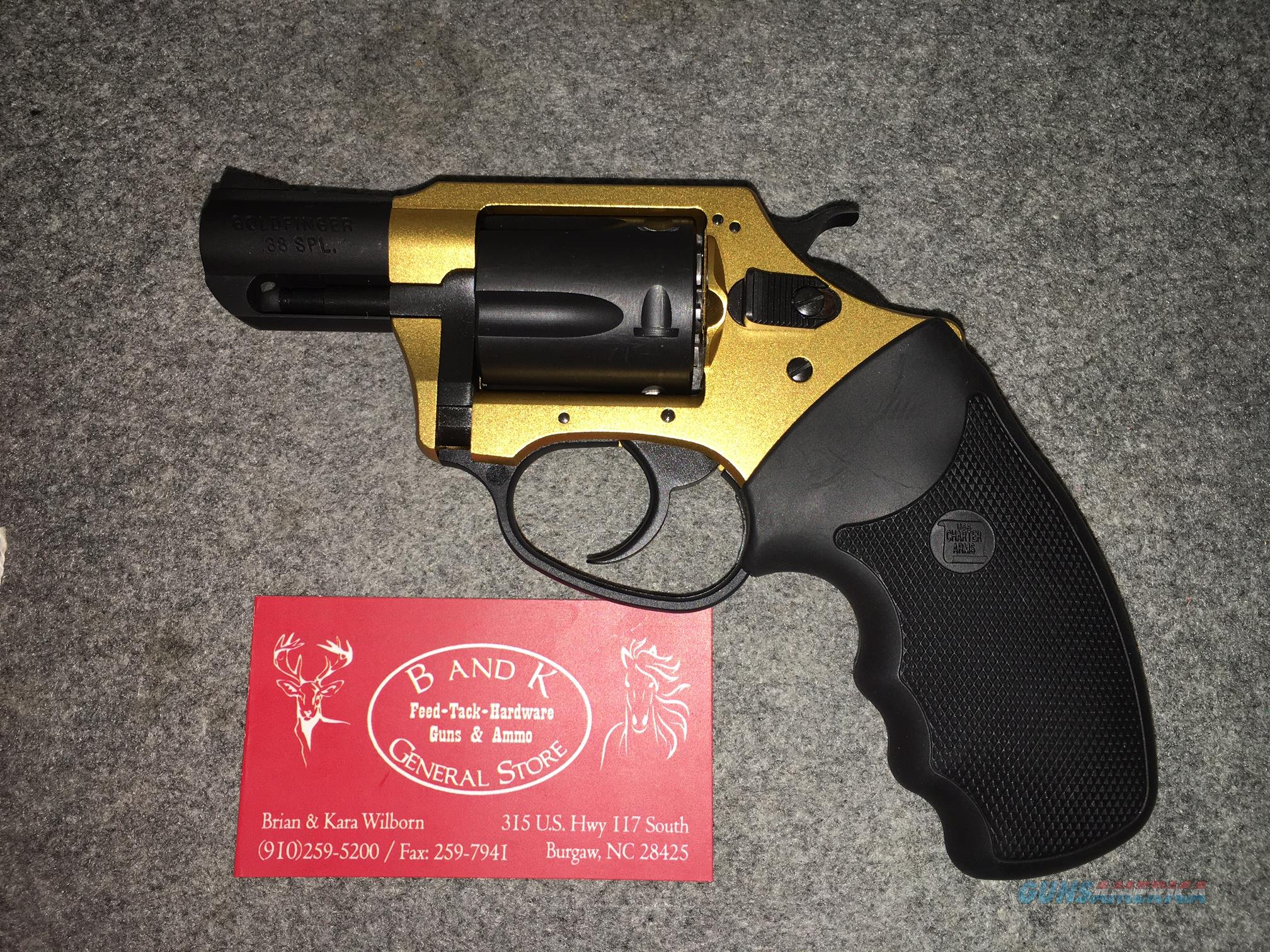 "Charter Arms 38 Special ""Goldfinger"" 53890  Guns > Pistols > Charter Arms Revolvers"