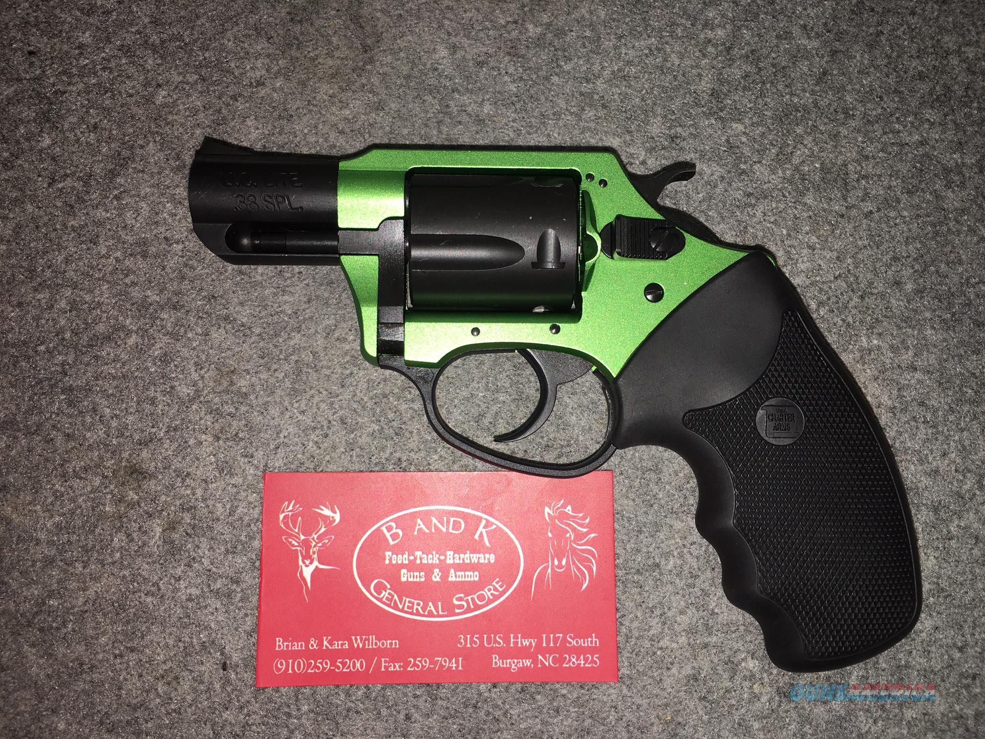 CHARTER ARMS ,38 SPECIAL ,SHAMROCK, 53844, U.C LITE  Guns > Pistols > Charter Arms Revolvers
