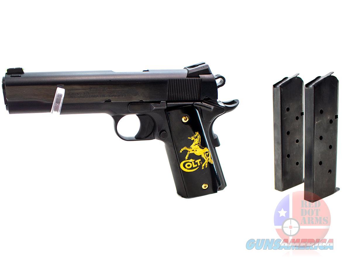 """Colt Talo Government 1911 .45ACP 5"""", Black, Gold Accent Grips, Original Hard Case  Guns > Pistols > Colt Automatic Pistols (1911 & Var)"""