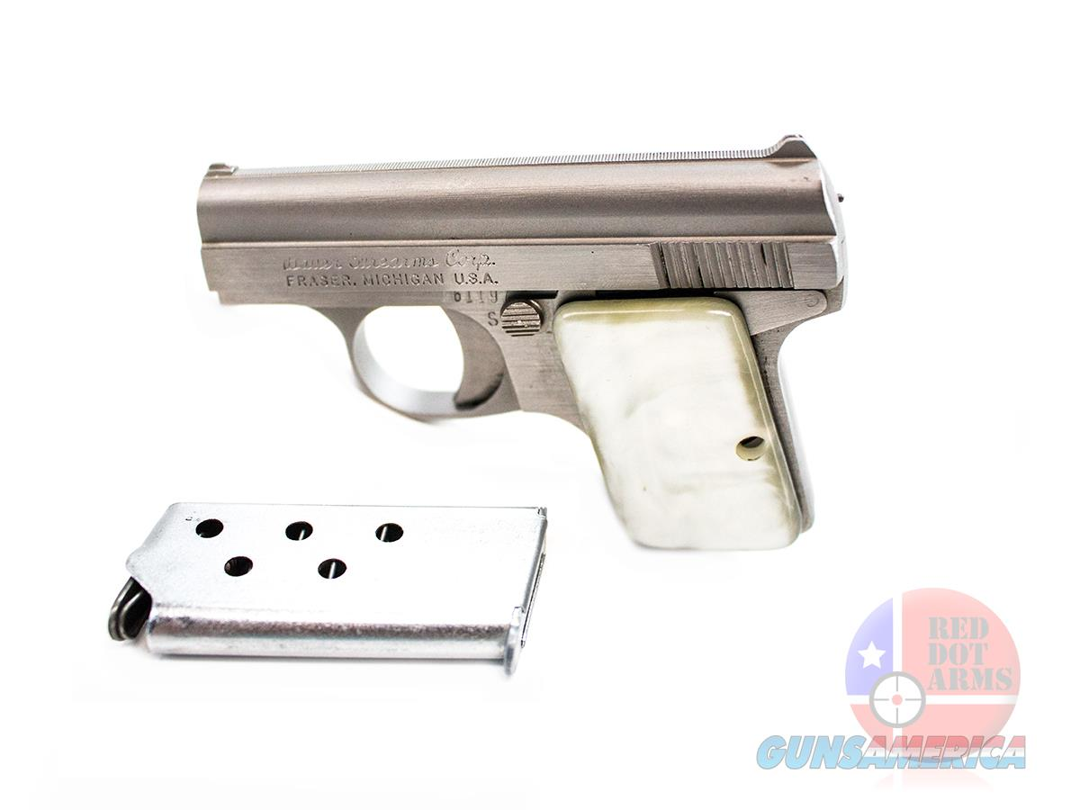 "Bauer .25 ACP 2.125"", Stainless, White Pearl Grips, Original Box  Guns > Pistols > Bauer Pistols"