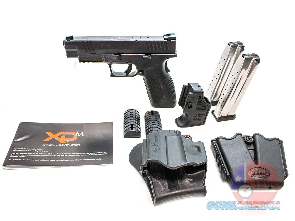 "Springfield XDm 9mm 4.5"", Trijicon NS, Springer Trigger Kit, Hard Case + More  Guns > Pistols > Springfield Armory Pistols > XD-M"