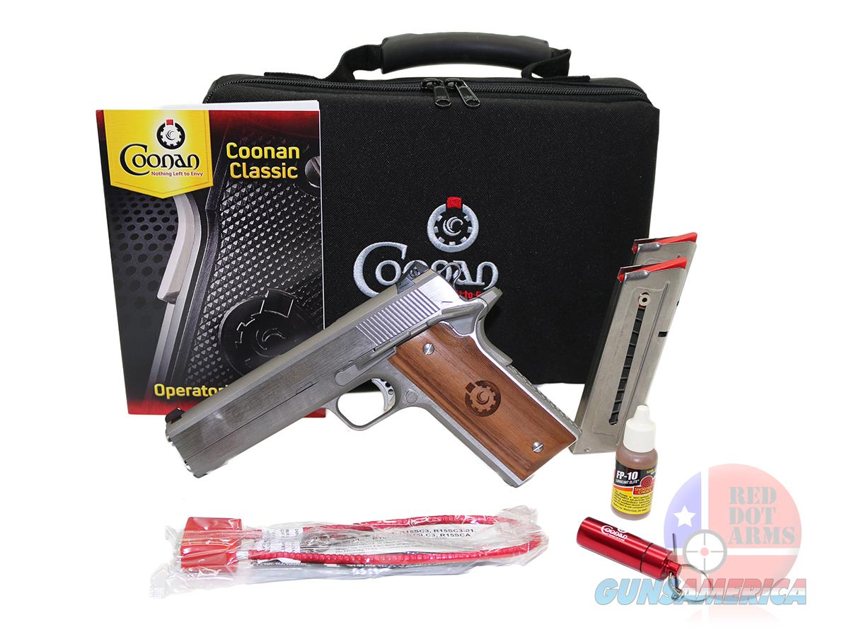 Coonan Classic 357 MAG, Adjustable White Dot Sights, Stainless, Wood  Guns > Pistols > Coonan Arms Pistols