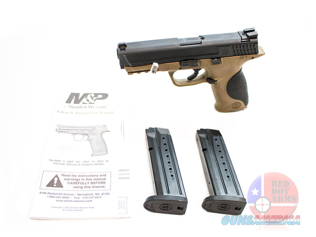 "Smith & Wesson M&P9 .9mm 4.25"", Flat Dark Earth, Original Hard Case  Guns > Pistols > Smith & Wesson Pistols - Autos > Polymer Frame"