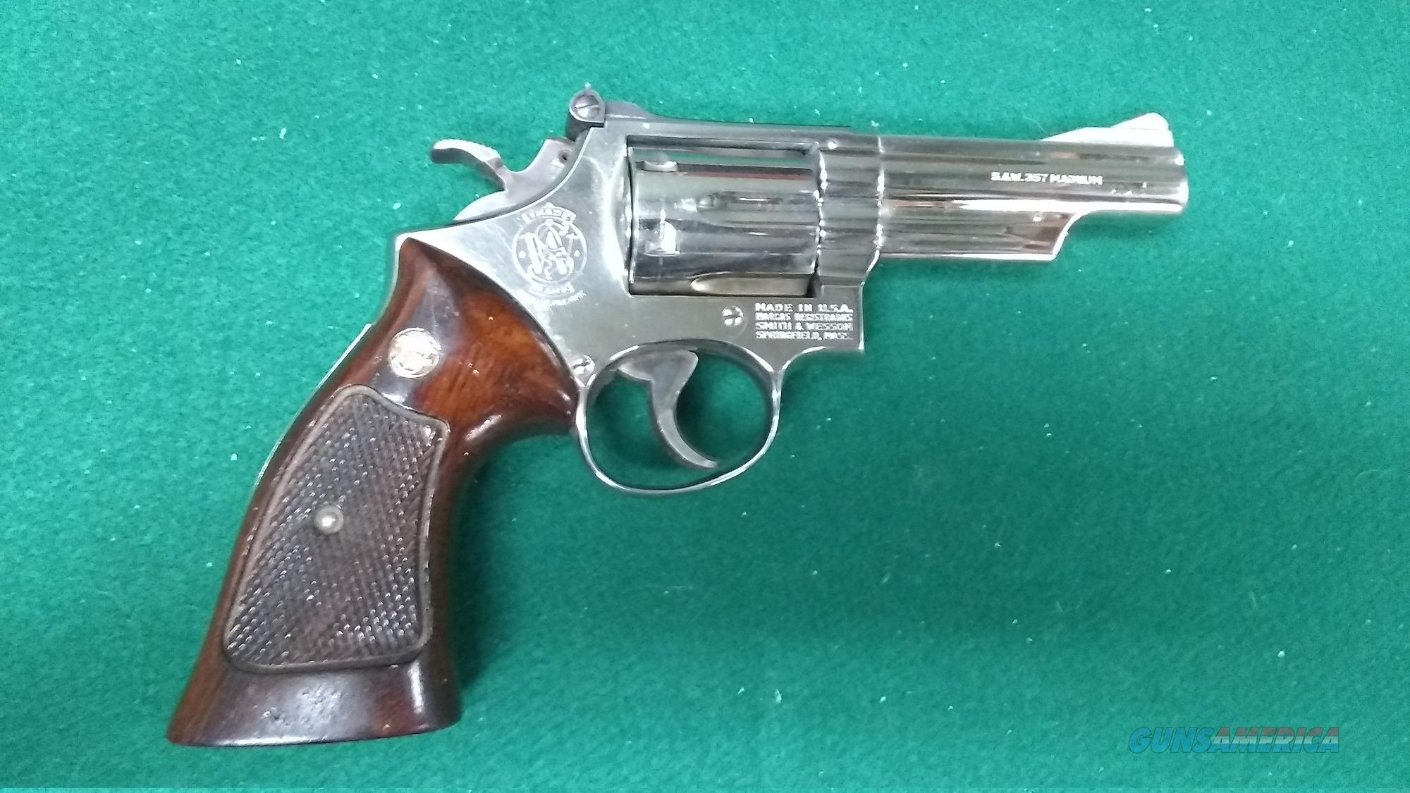 "Smith & Wesson 19-3 - Nickel Finish - .357Mag - 4"" Barrel  Guns > Pistols > Smith & Wesson Revolvers > Med. Frame ( K/L )"
