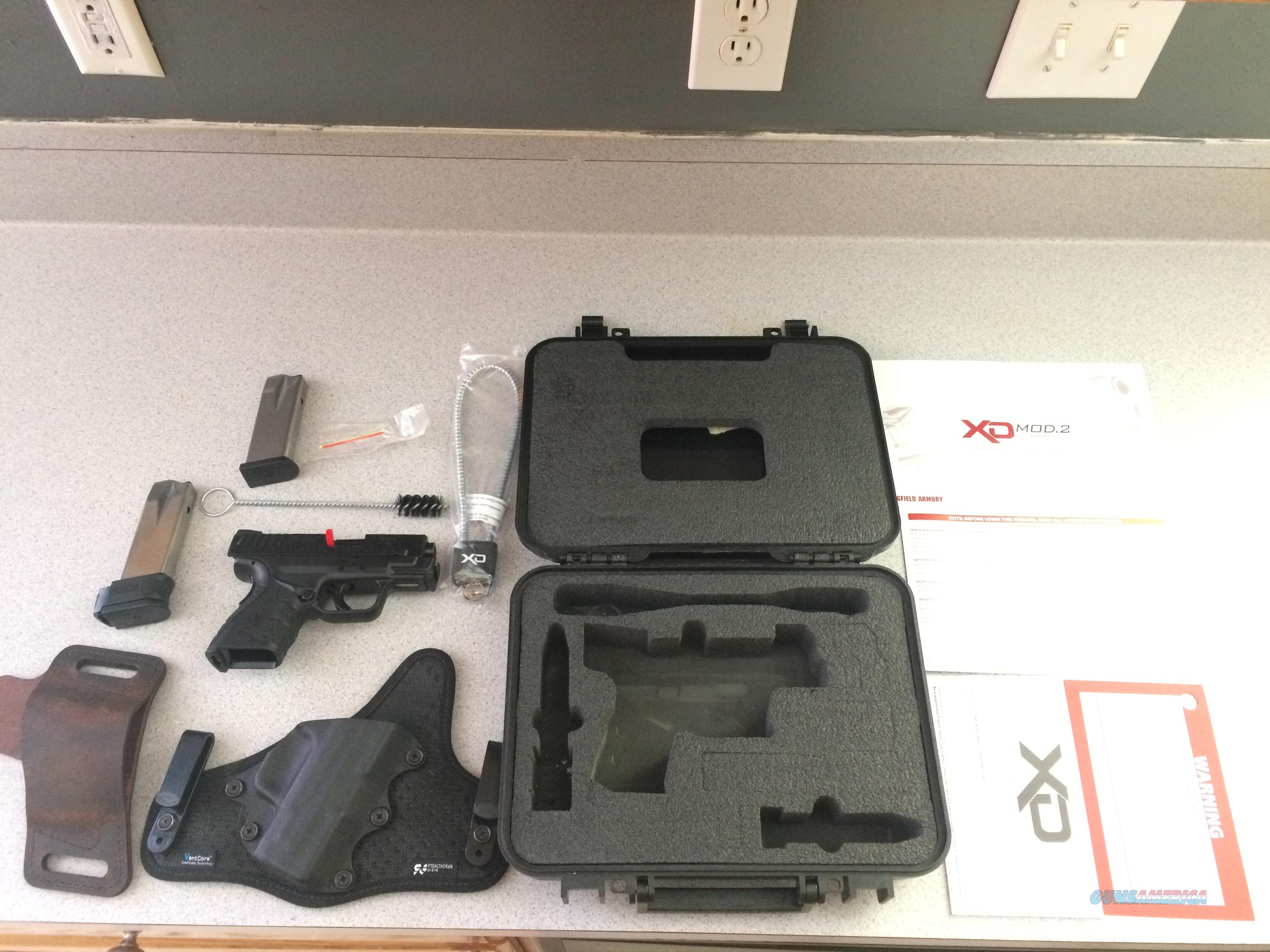 "Springfield XD Mod2 Subcompact 3.3"" Barrel 9mm W/ 3 Holsters  Guns > Pistols > Springfield Armory Pistols > XD-Mod.2"