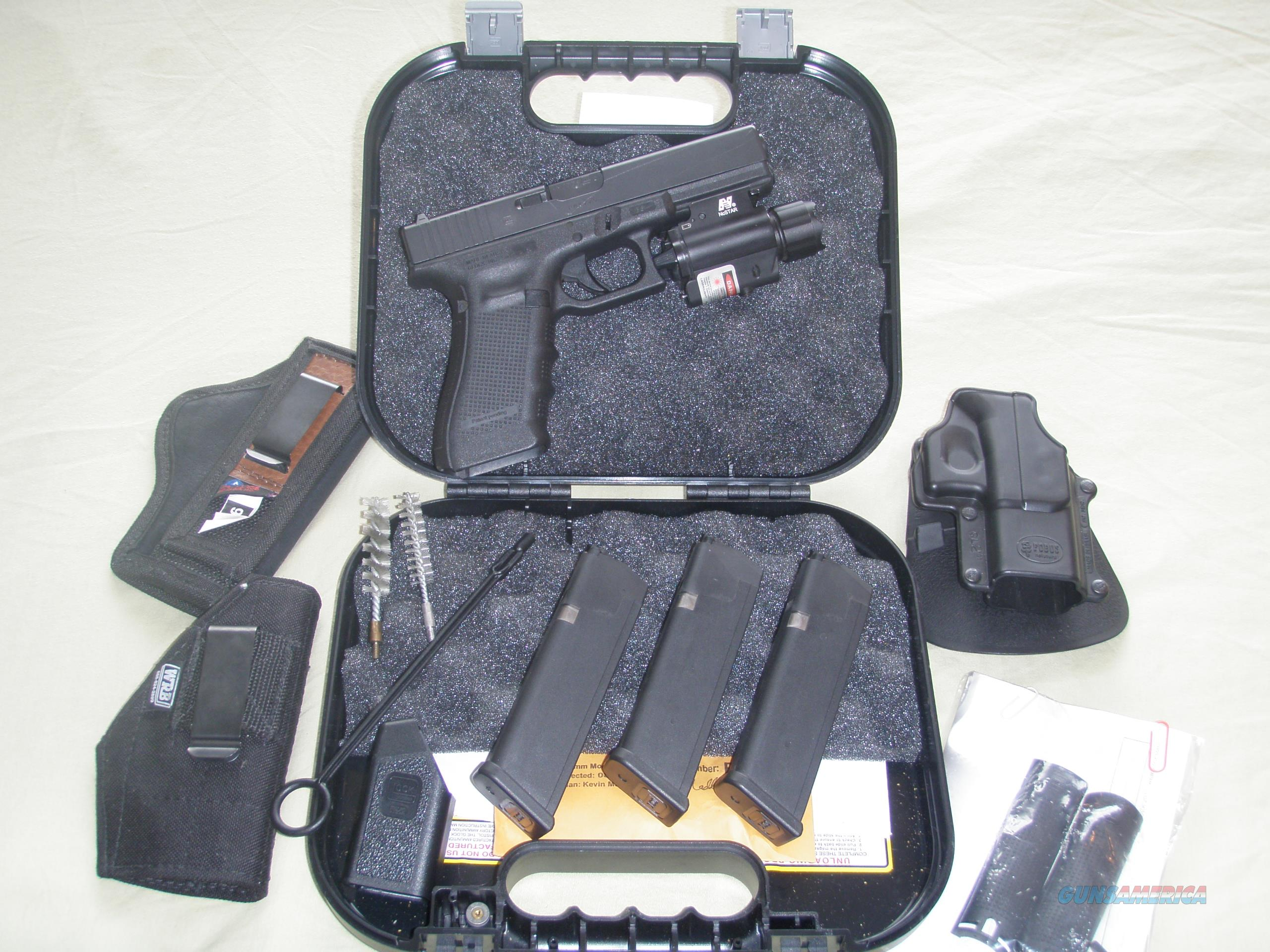 Glock 17 Gen 4 9mm NcSTAR Laser & Flashlight Combo 3 Holsters FOBUS  Guns > Pistols > Glock Pistols > 17