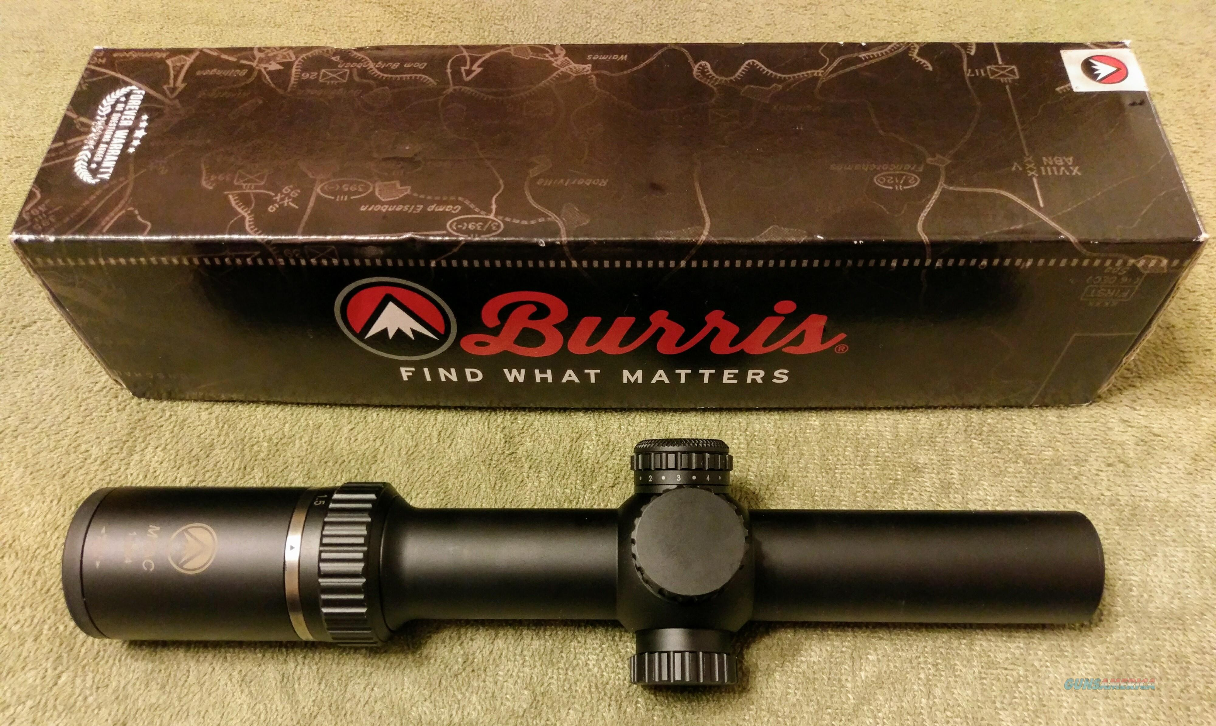 Burris MTAC 1-4x Scope  Non-Guns > Scopes/Mounts/Rings & Optics > Tactical Scopes > Variable Recticle