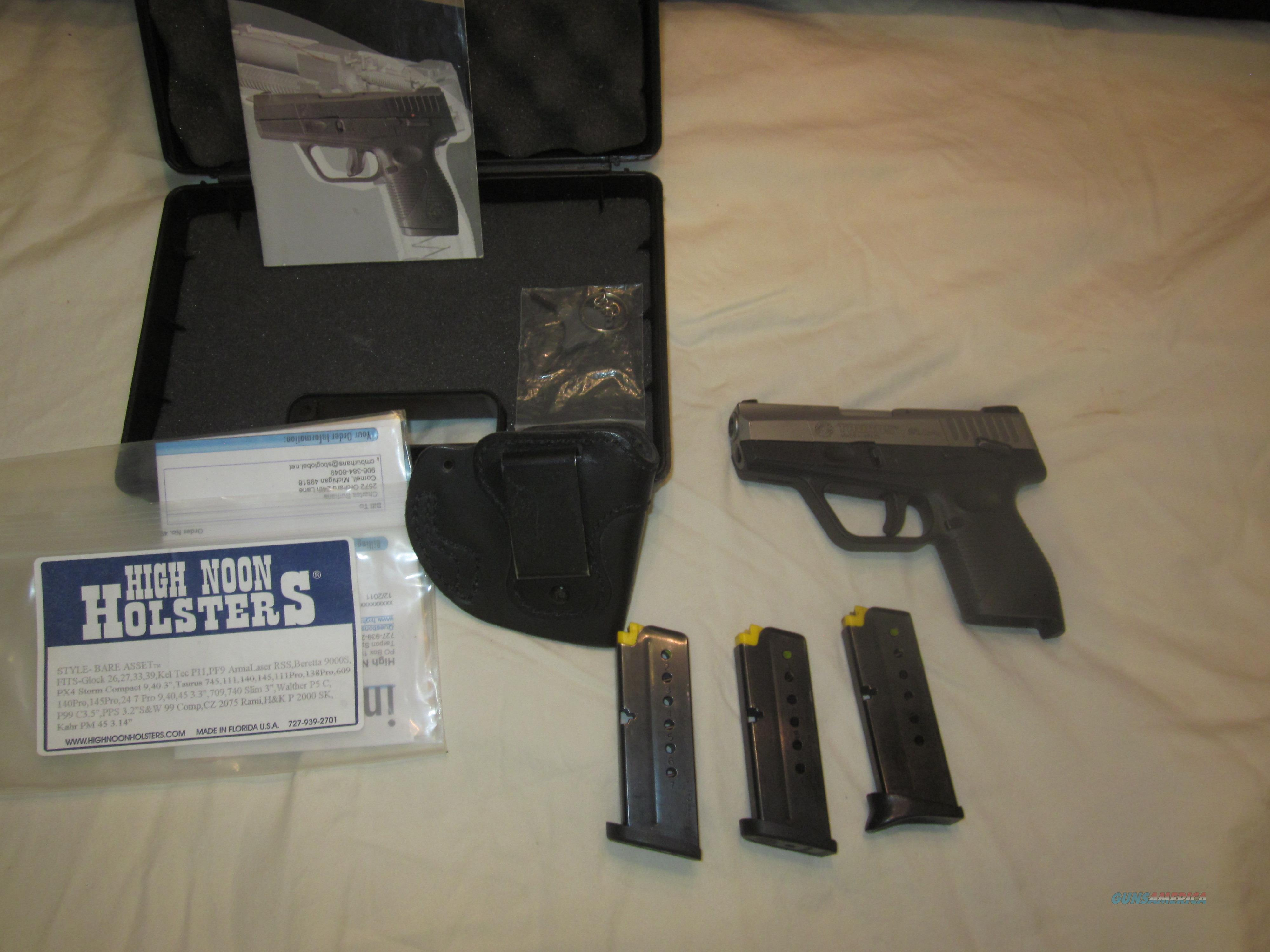 "Great CCW! Taurus ""Slim"" PT709 in Stainless with extras  Guns > Pistols > Taurus Pistols > Semi Auto Pistols > Polymer Frame"