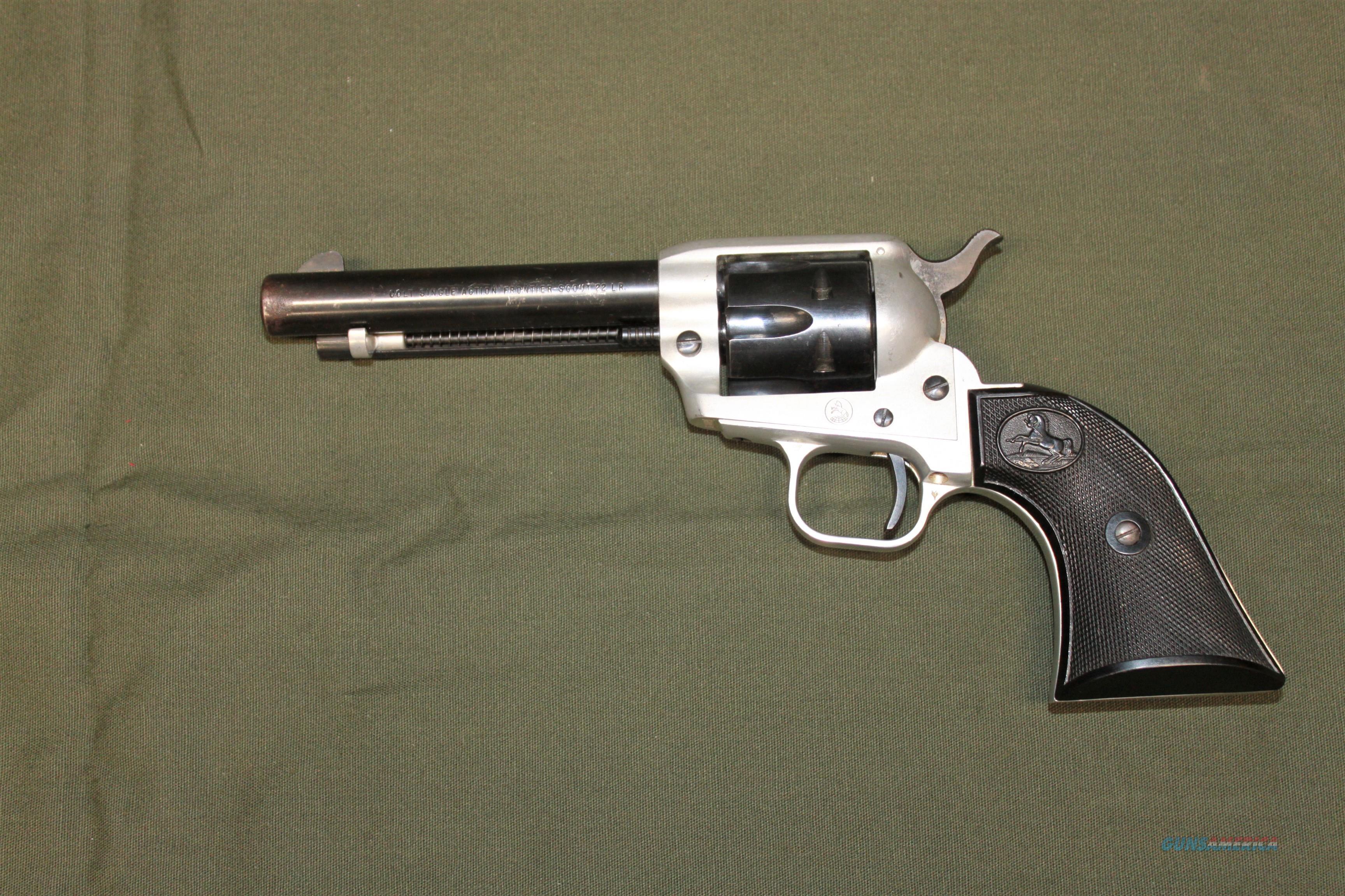 COLT S/A FRONTIER SCOUT 22 LR  Guns > Pistols > Colt Single Action Revolvers - Modern (22 Cal.)
