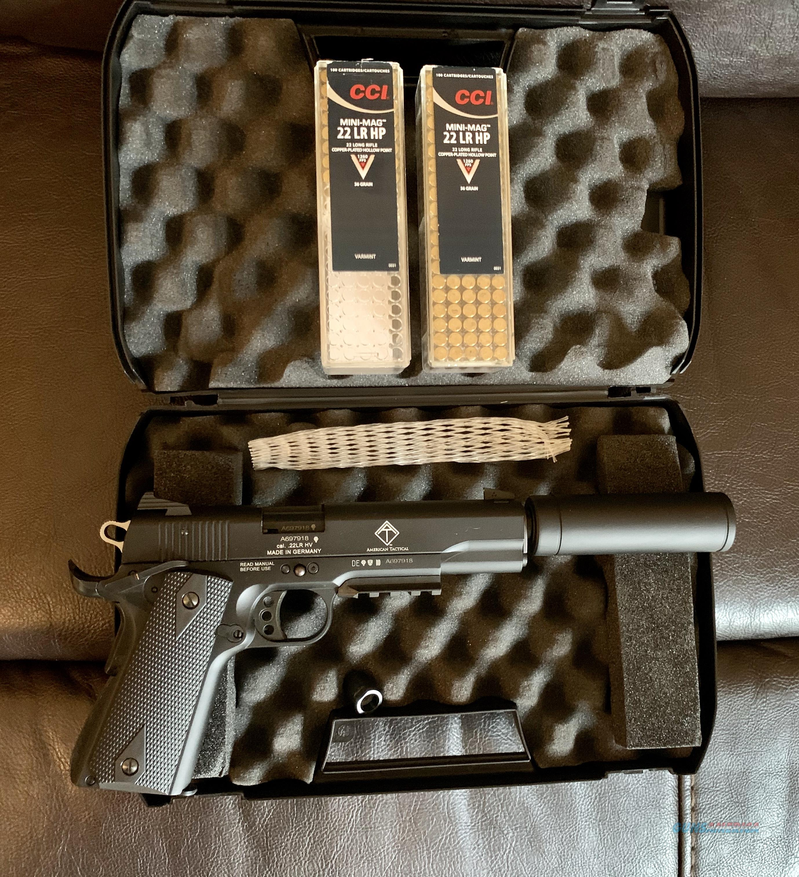 1911 American Tactical GSG-1911 in .22LR W/ ammo  Guns > Pistols > American Tactical Imports Pistols
