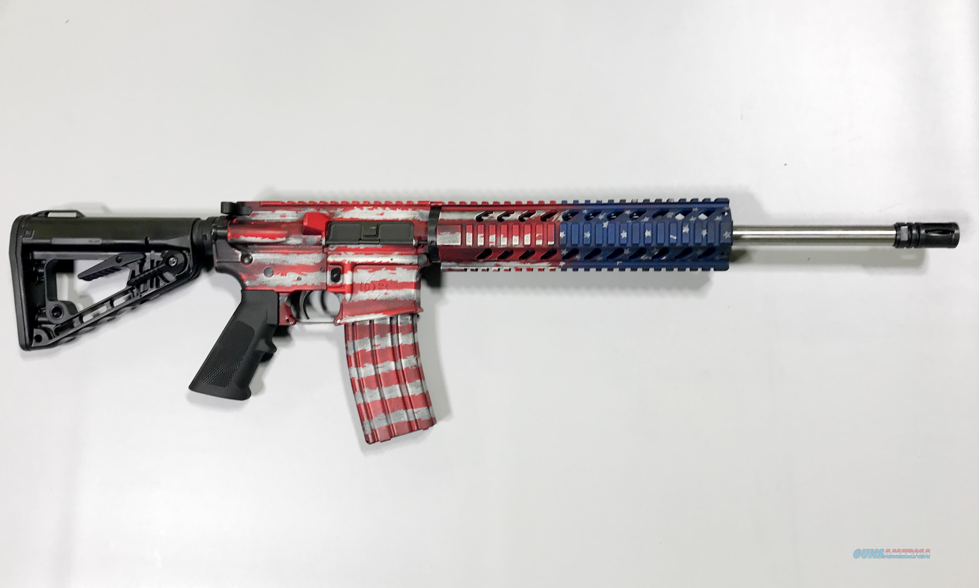 DIAMONDBACK DB15CCRB AR15 Custom Cerakote BattleWorn Stars & Strips  Guns > Rifles > Diamondback Rifles