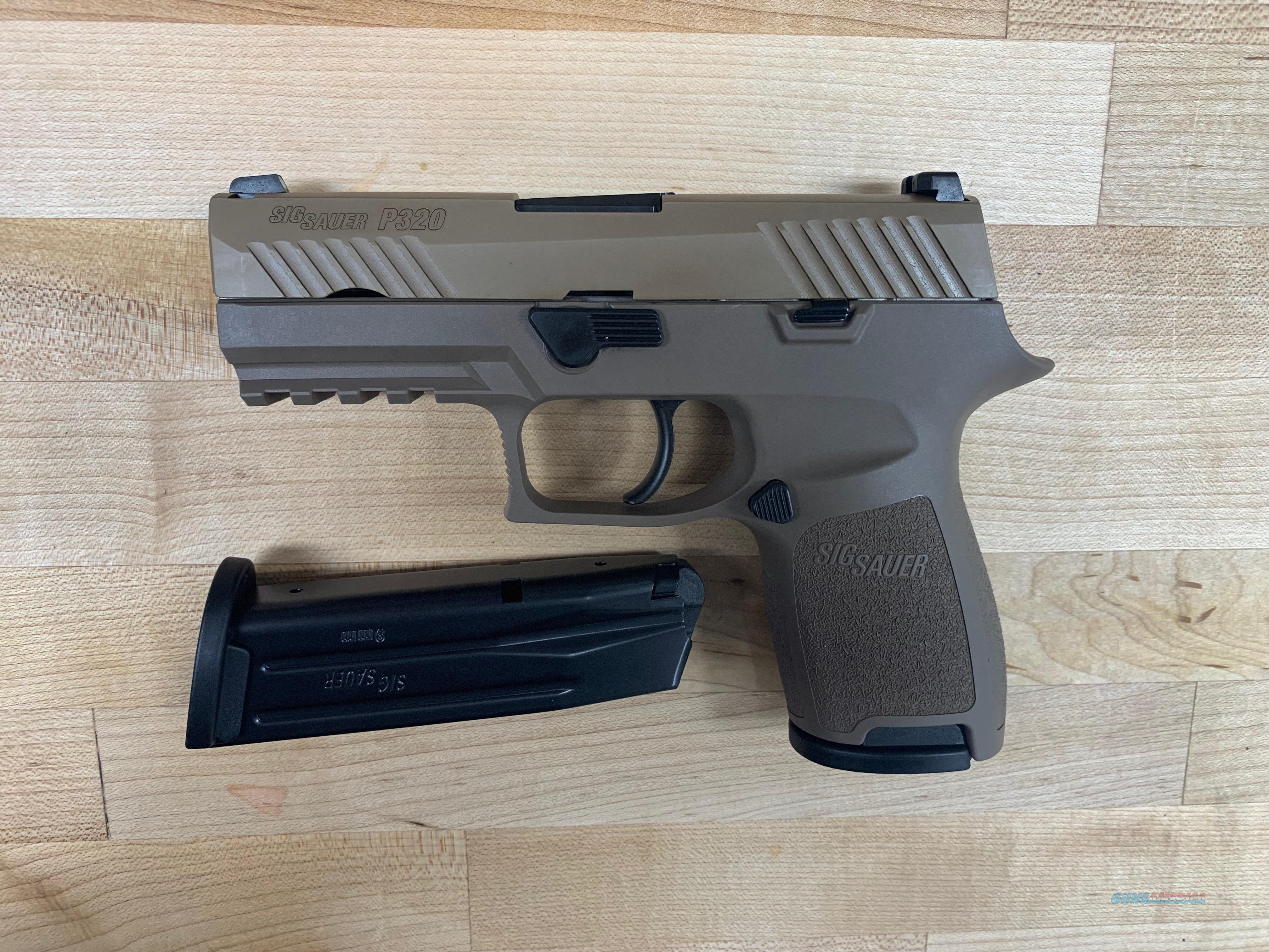 "Sig Sauer 320C9FDE P320 Compact Double 9mm Luger 3.9"" 15+1 Flat Dark Earth Polymer Grip Flat Dark Earth PVD Stainless Steel  Guns > Pistols > Sig - Sauer/Sigarms Pistols > P320"