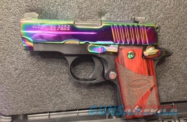 Sig Sauer P238 Micro-Compact 6+1 Rosewood Grip Rainbow Titanium PVD Stainless Steel  Guns > Pistols > Sig - Sauer/Sigarms Pistols > P238