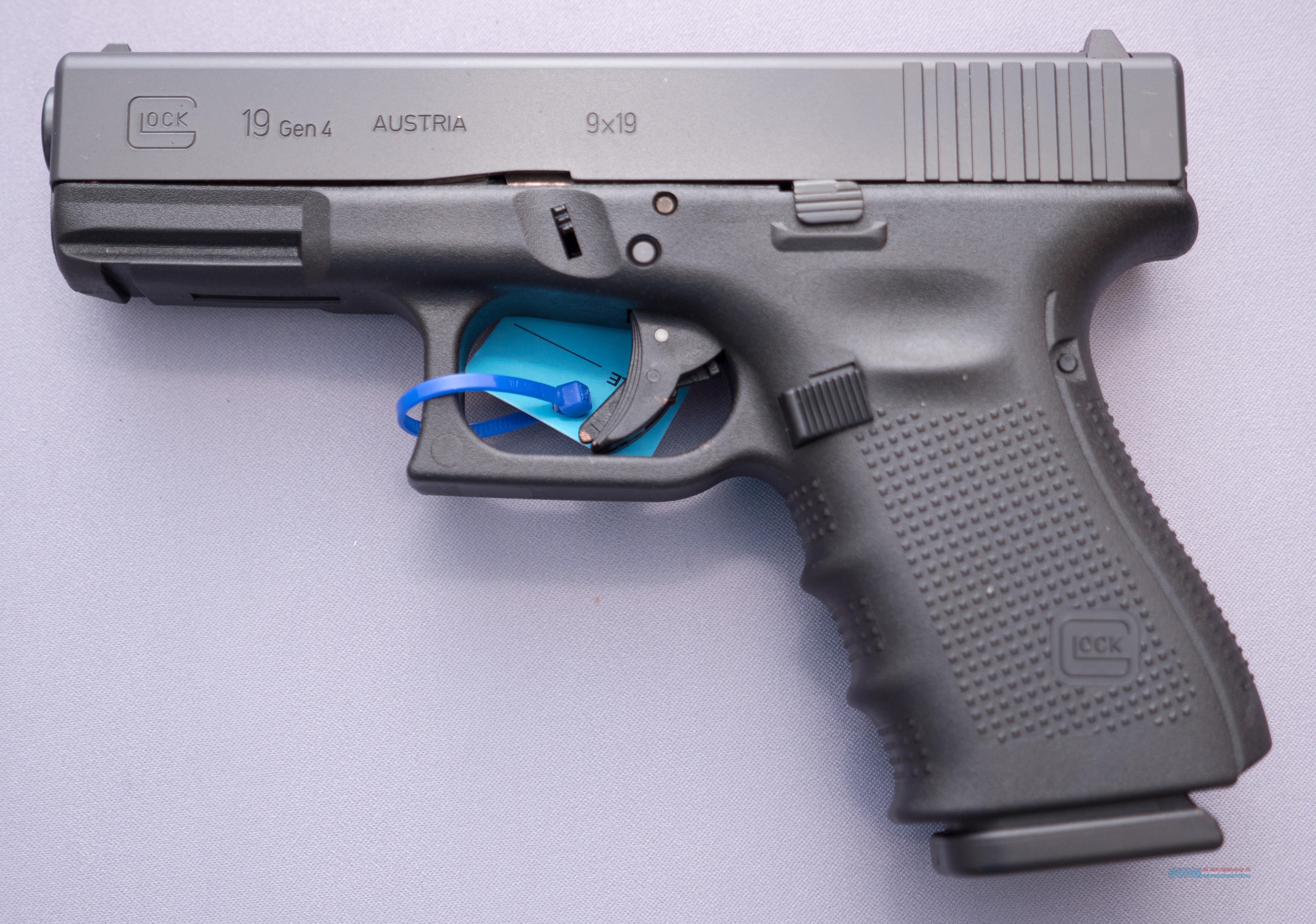 Glock 19 GEN4 9MM PST 15RD FS For Sale