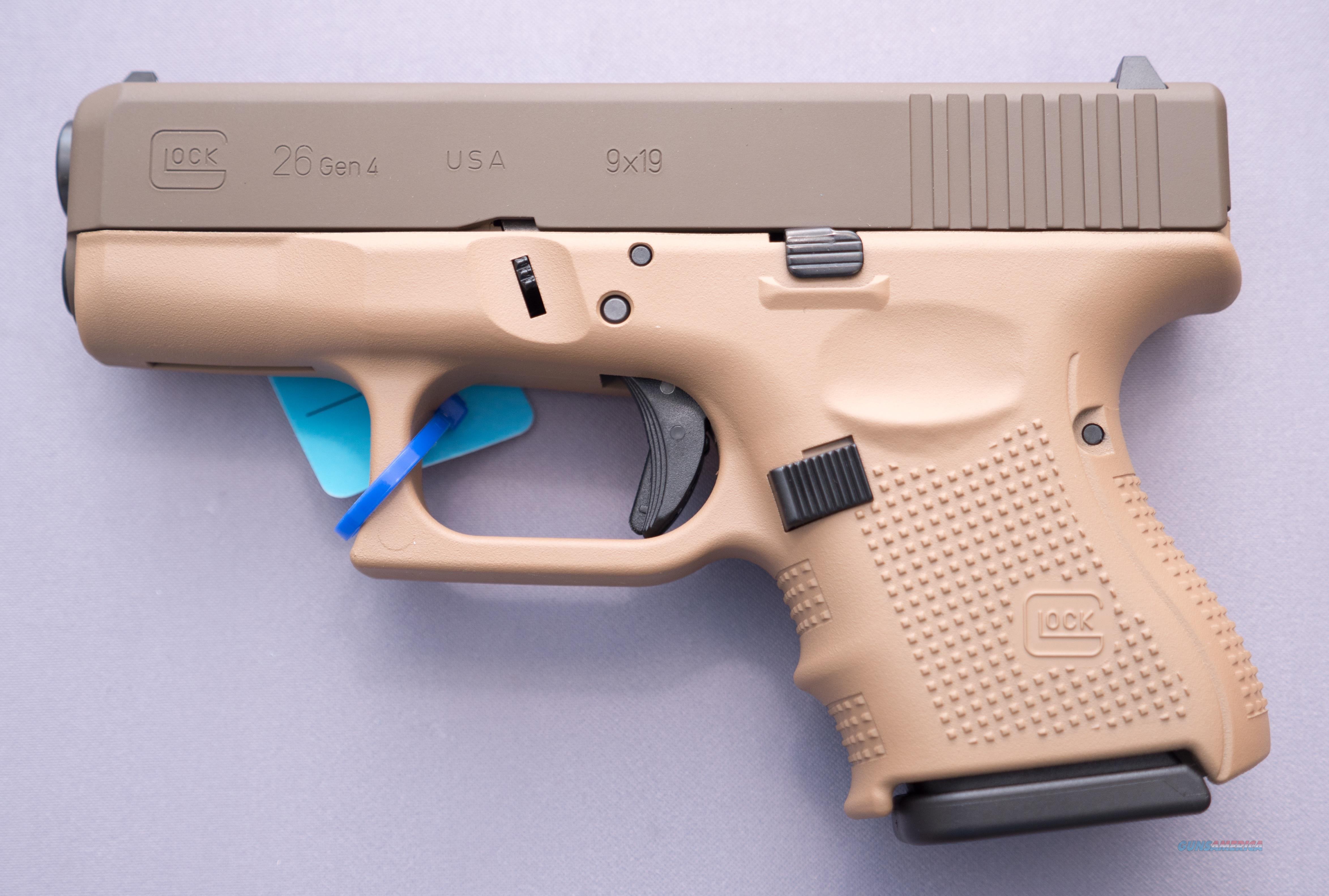 GLOCK 26 Gen4 9x19 10+1 Cerakote Patriot Brown Free Shipping   NO Credit Card Fees  Guns > Pistols > Glock Pistols > 26/27