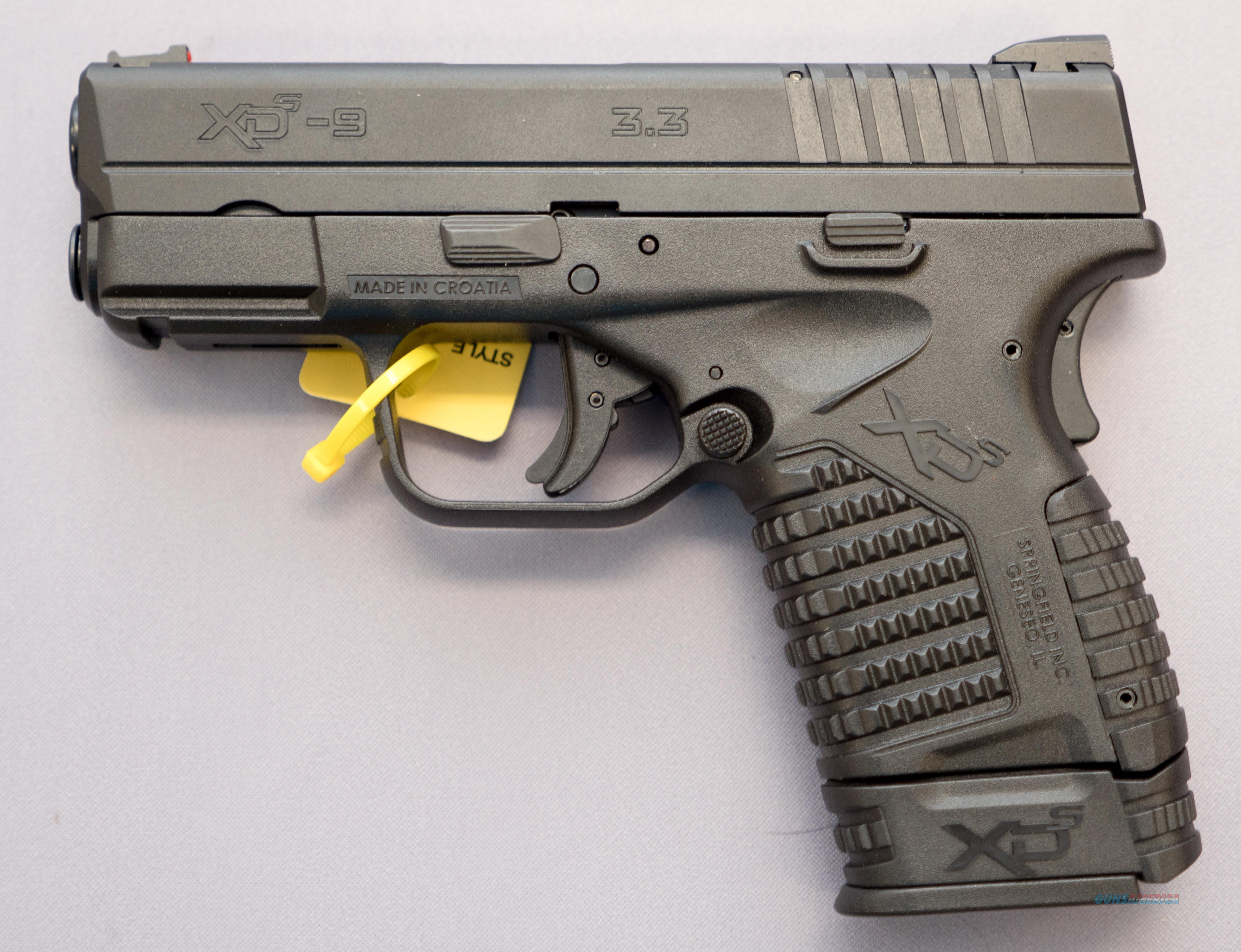 XDS-9 3.3 XDS9339BE 9mm 8+1 NO Credit Card Fees $15 Flat rate Shipping  Guns > Pistols > Springfield Armory Pistols > XD-S