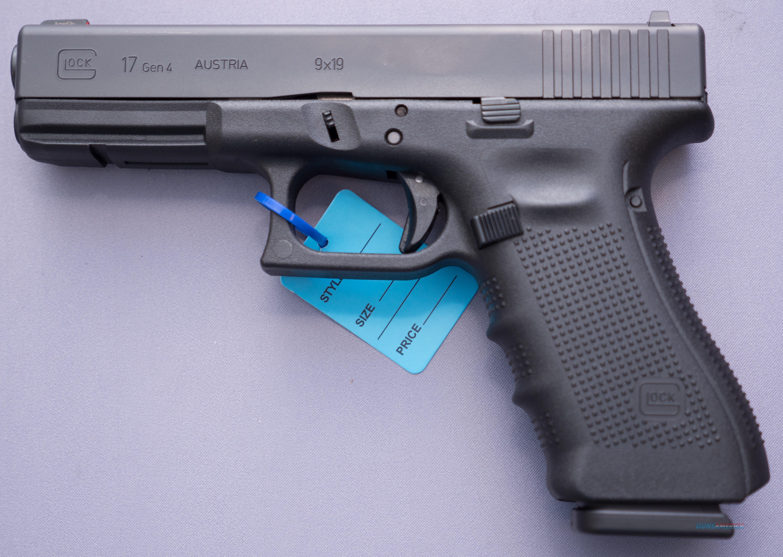 Glock 17 Gen4 9mm 17+1 Talo edition Green Tritium Dot w/Orange Outline Front Sight  Guns > Pistols > Glock Pistols > 17