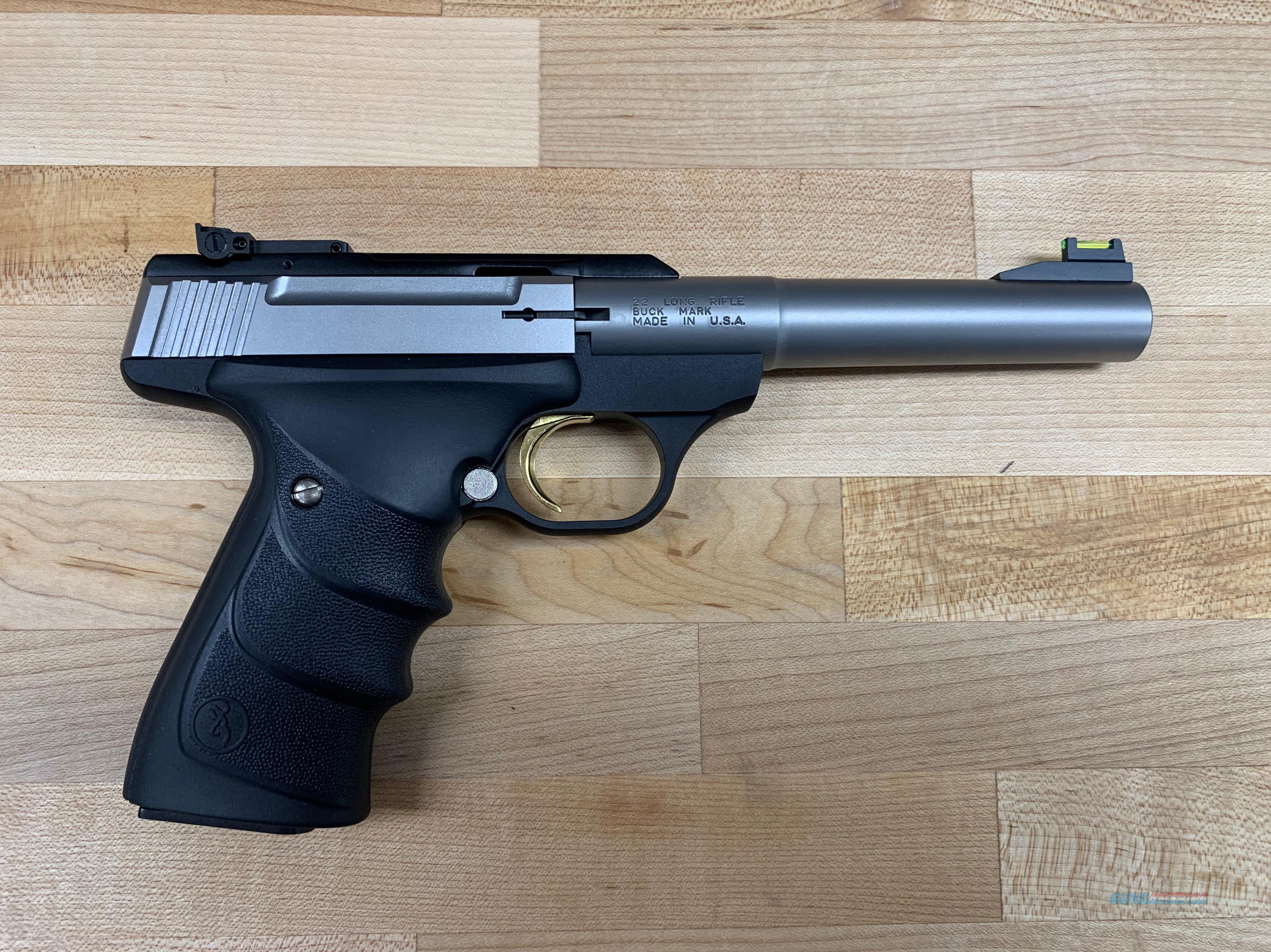 Browning 051442490 Buck Mark Camper Black Ultragrip RX Grip Stainless Steel  Guns > Pistols > Browning Pistols > Buckmark