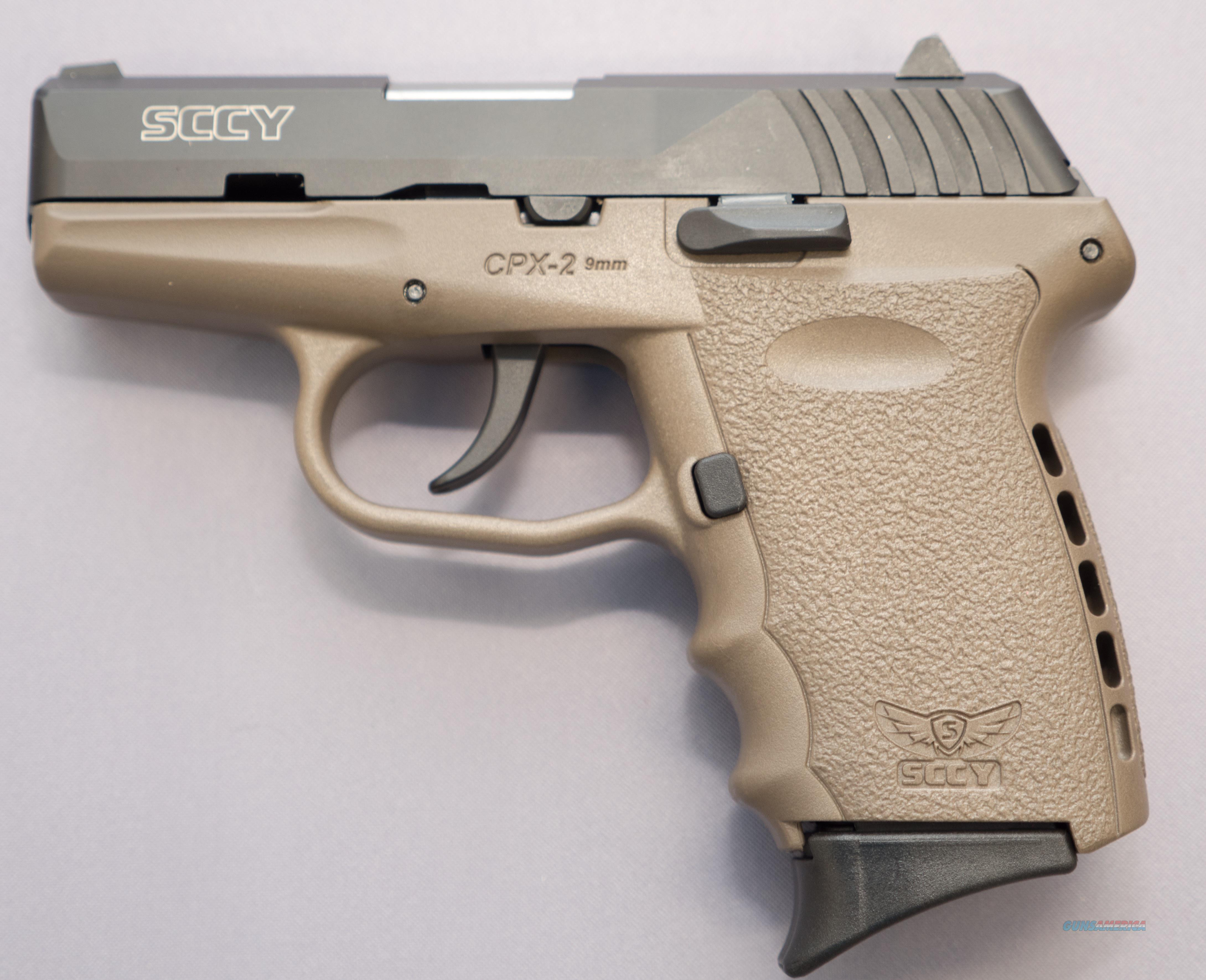 SCCY CPX-2 9mm 10+1 Black/FDE $15 Flat Rate shipping No Credit Card Fees  Guns > Pistols > SCCY Pistols > CPX2