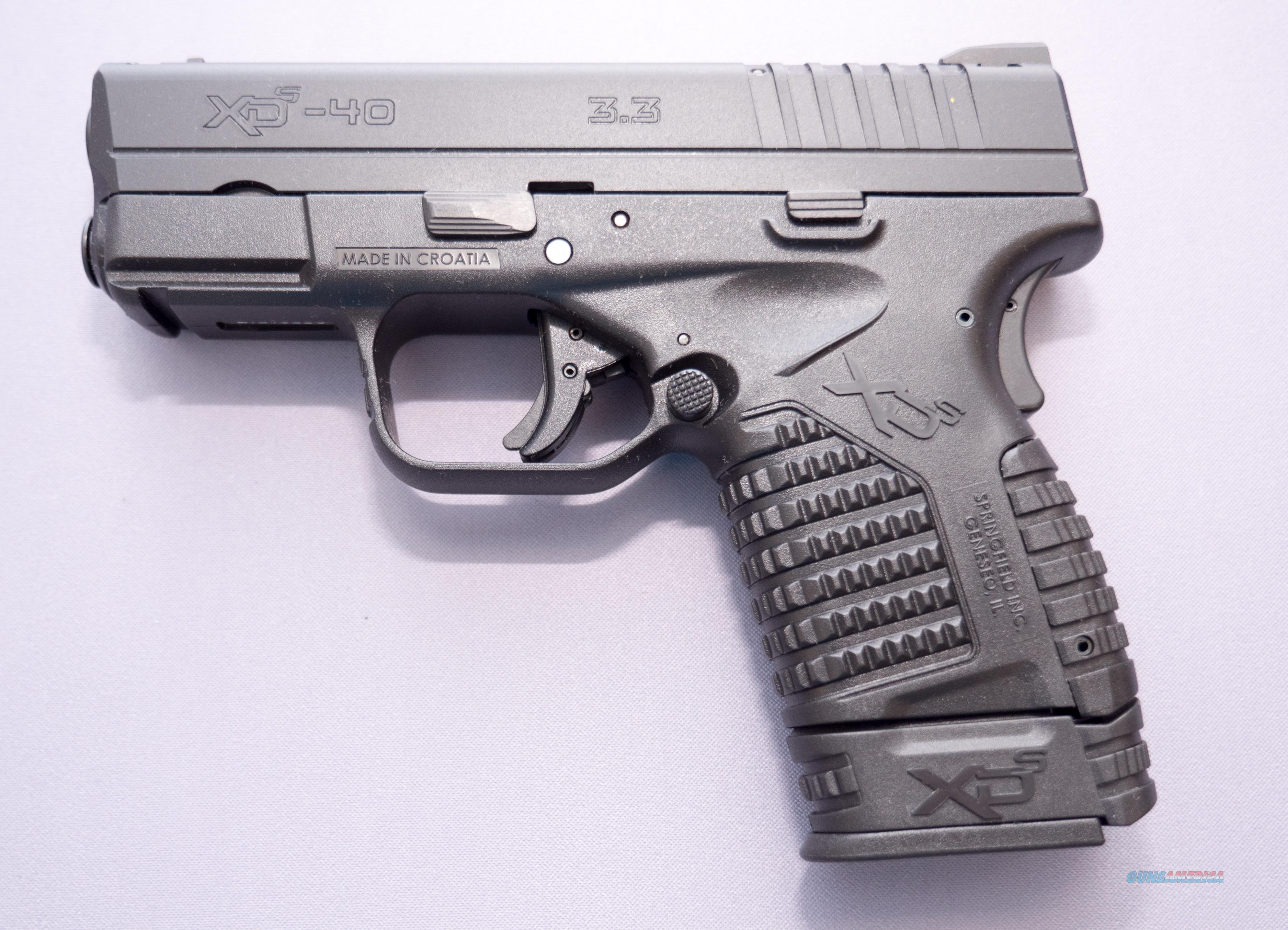 XDS-40 3.3 XDS93340BE .40SW 7+1 No Credit Card Fees $15 Flat Rate Shipping  Guns > Pistols > Springfield Armory Pistols > XD-S
