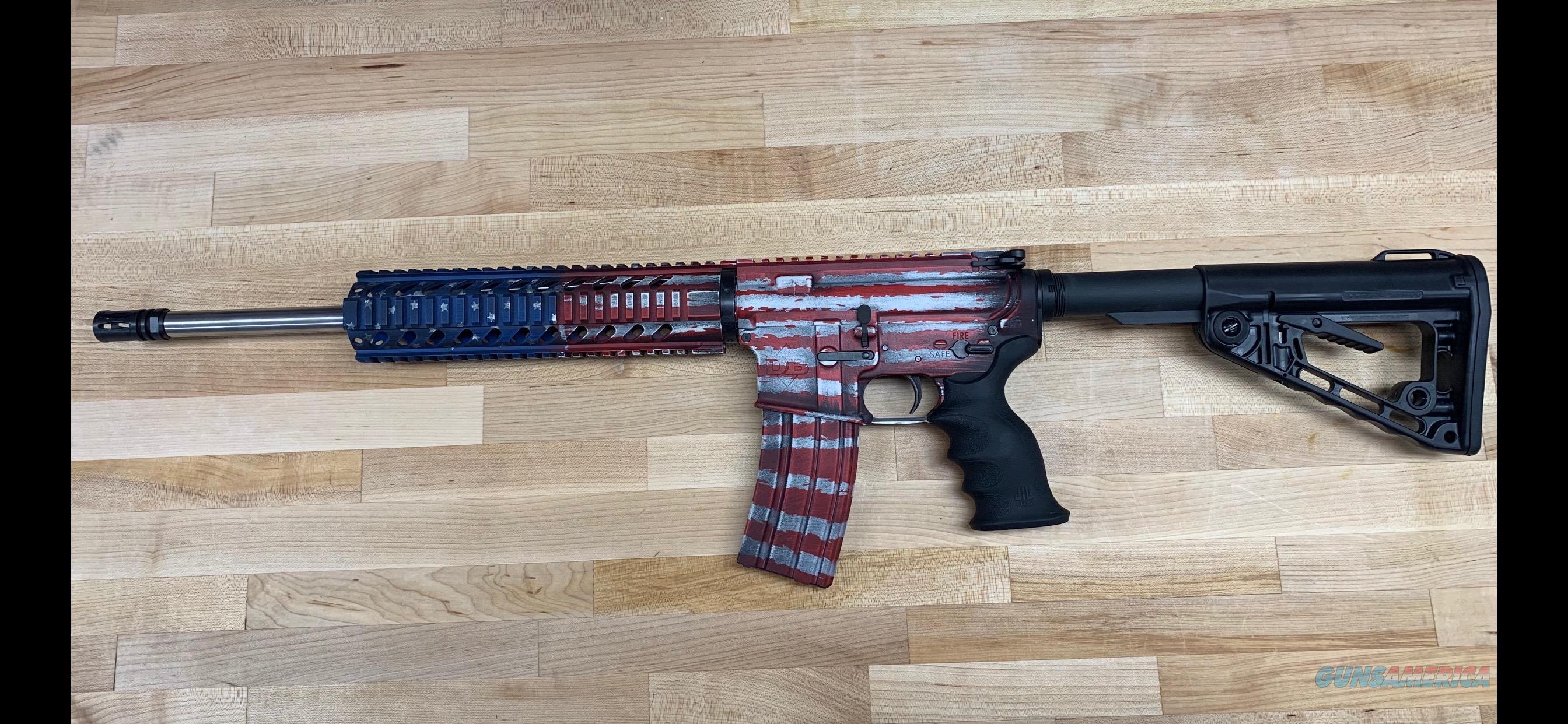DIAMONDBACK DB15CCRB AR15 Custom Cerakote BattleWorn Stars & Strips  Guns > Rifles > Diamondback Rifles