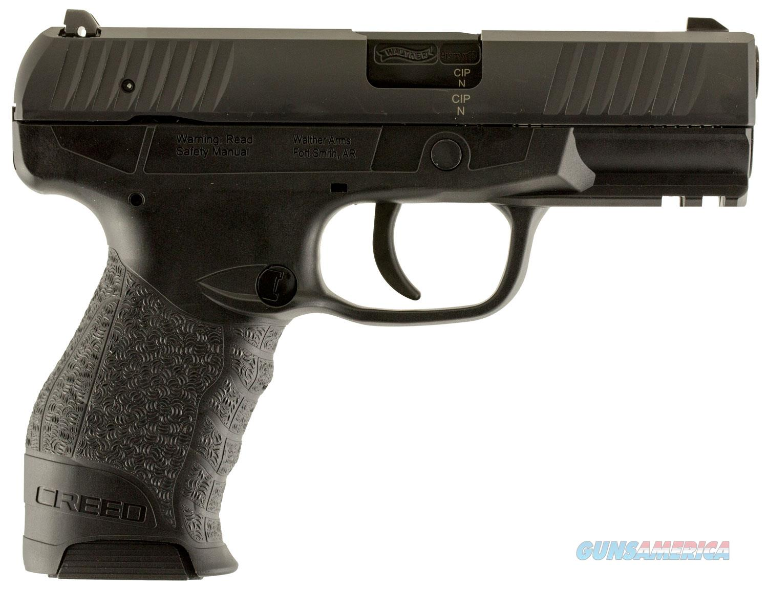 "Walther Creed 9mm 4"" Barrel 16+1 Capacity Free Shipping  Guns > Pistols > Walther Pistols > Post WWII > Creed"