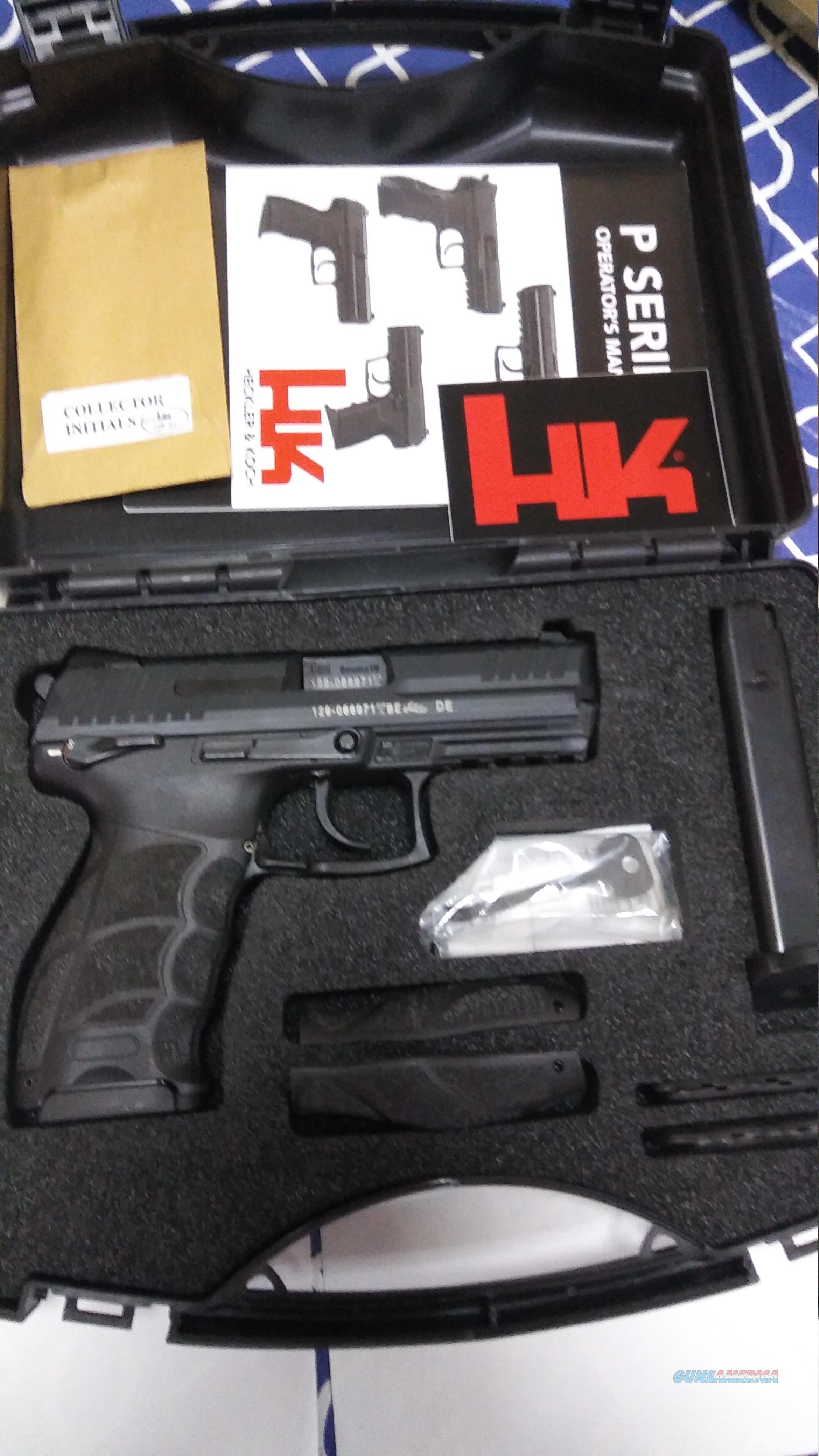HK P 30 9 mm full size double action - single action night sites 2 mags all as new  Guns > Pistols > Heckler & Koch Pistols > Polymer Frame