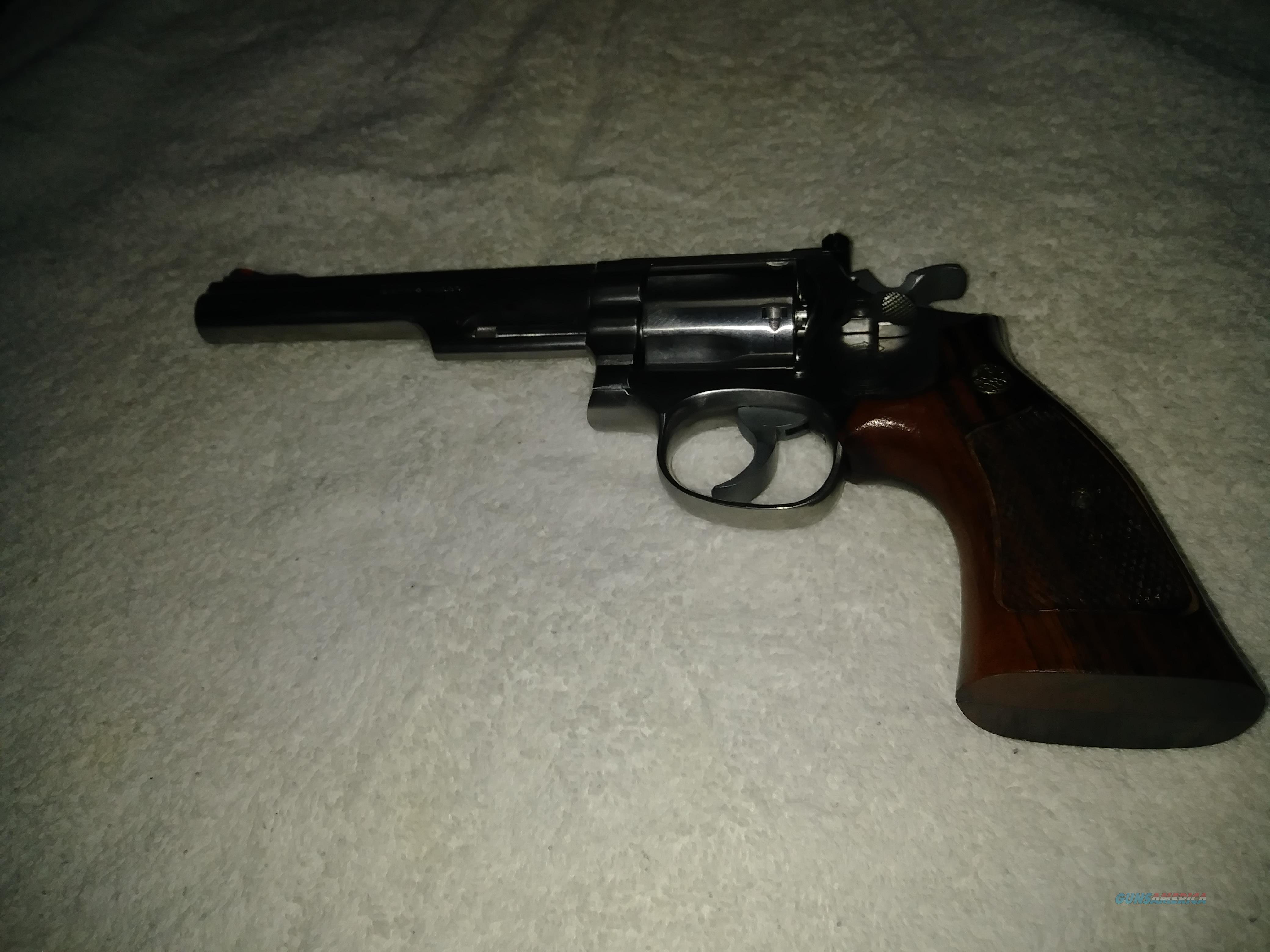 S and W 357 magnum 66 - 2 TH TT White outline red ramp  Guns > Pistols > Smith & Wesson Revolvers > Med. Frame ( K/L )