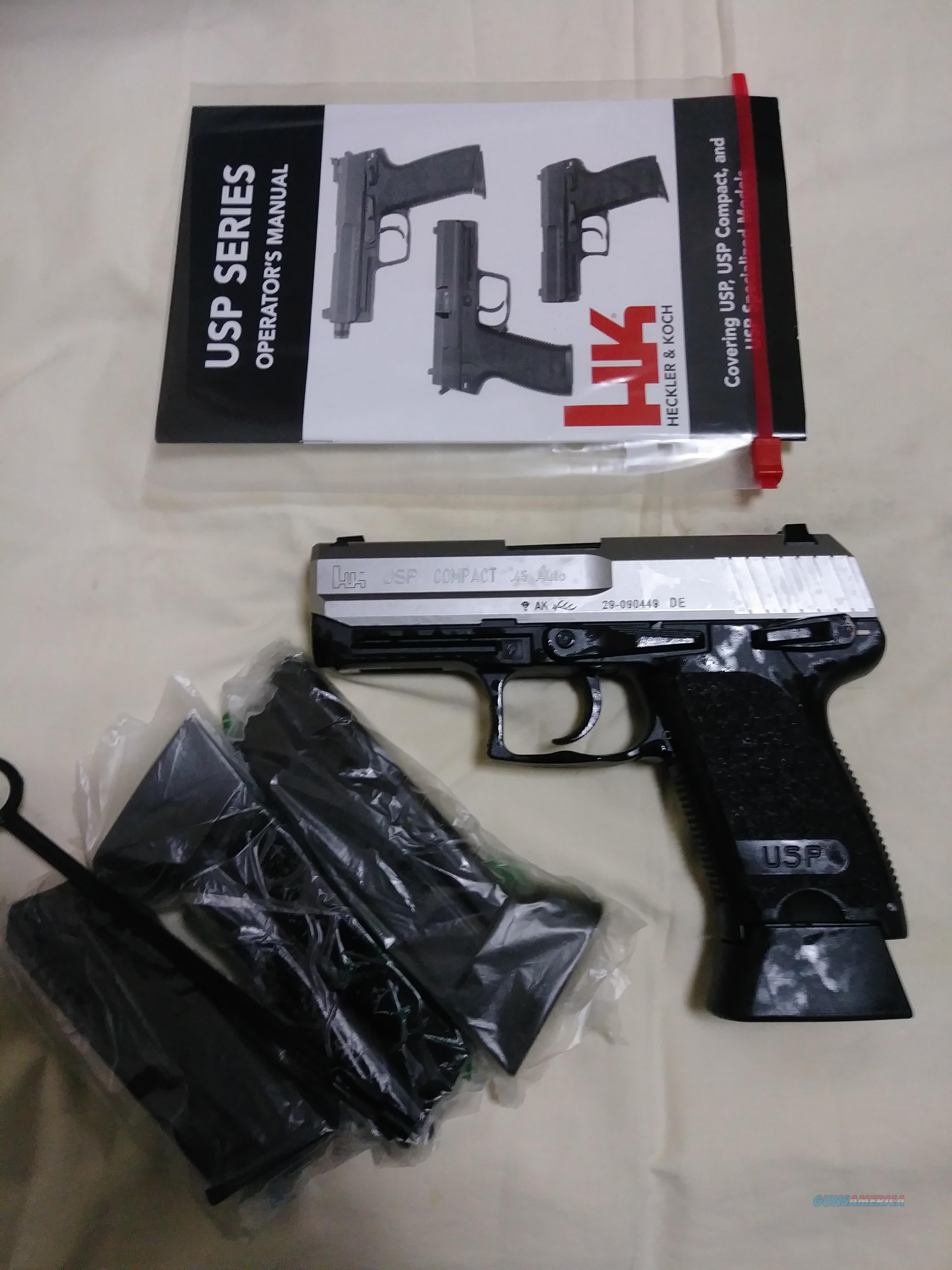 H and K USP compact 45 auto with night sites  Guns > Pistols > Heckler & Koch Pistols > Polymer Frame